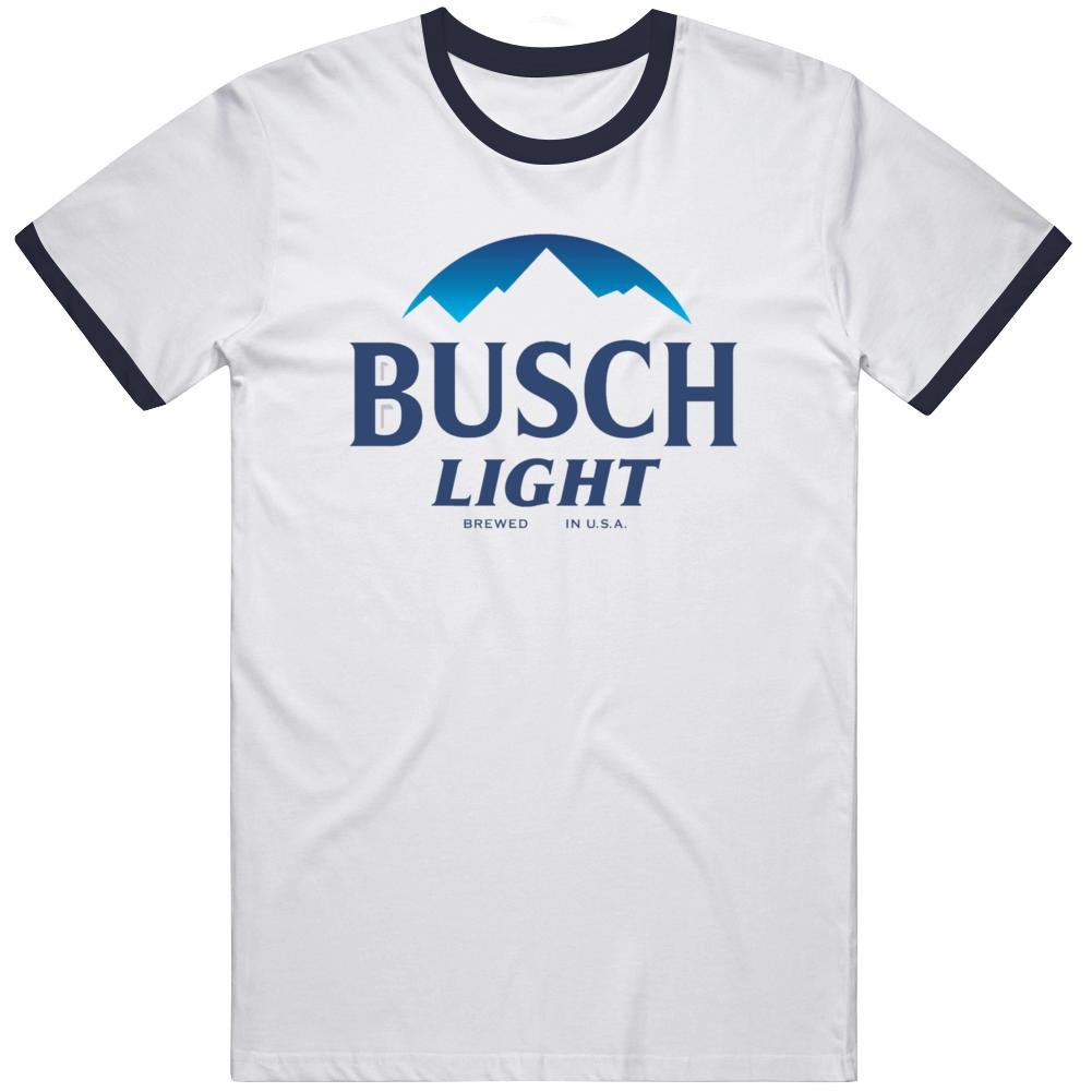 Busch Light American Beer Company  Ringer T Shirt