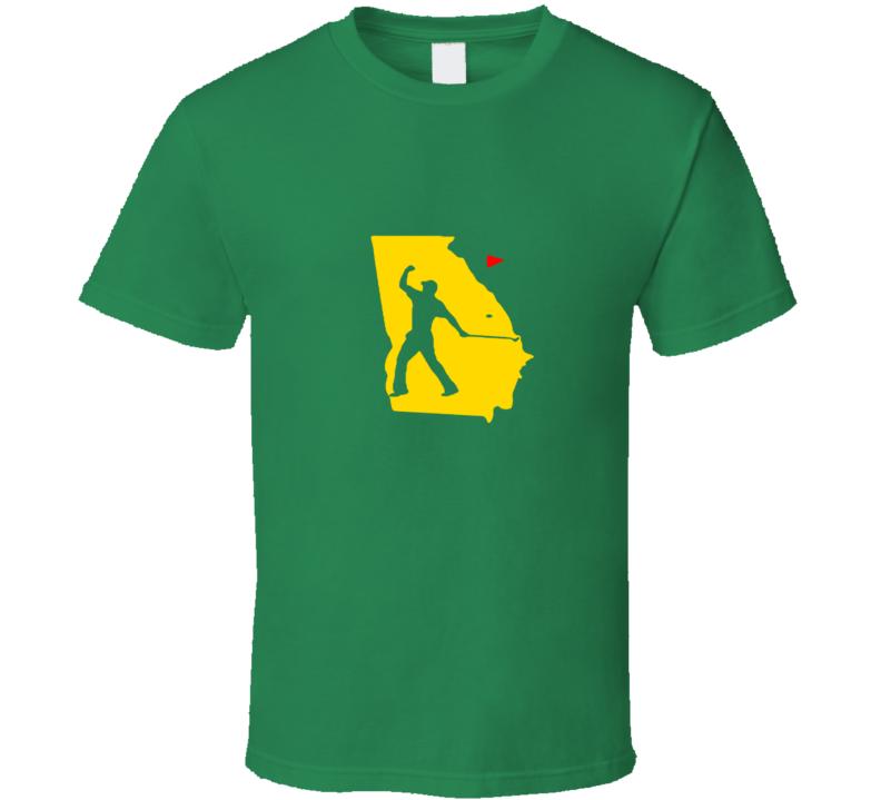 Tiger Augusta Fist Pump Golf T Shirt