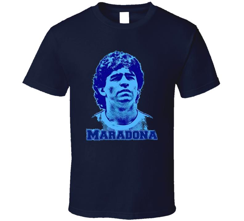 Diego Maradona Silhouette  Argentina Soccer Football Fan T Shirt