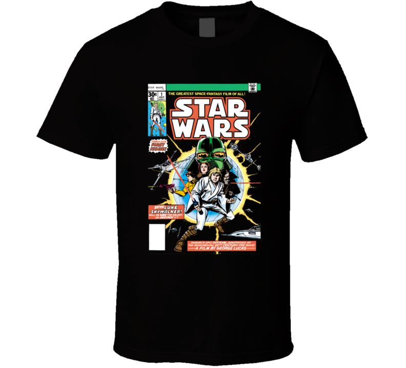 Star Wars Comic 1 Vintage Retro T Shirt