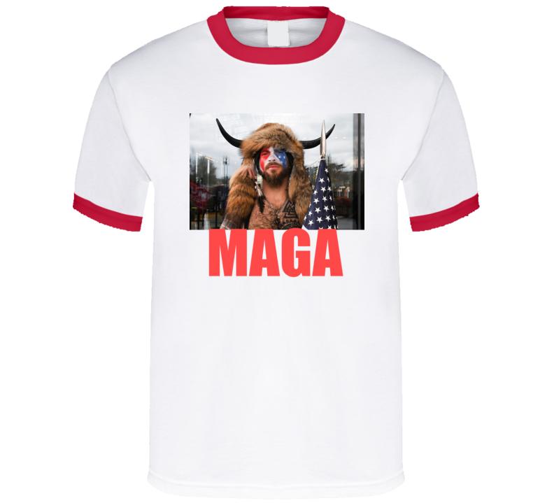 Jake Angeli Shirtless Horned Man Trump Maga Supporter V2 T Shirt