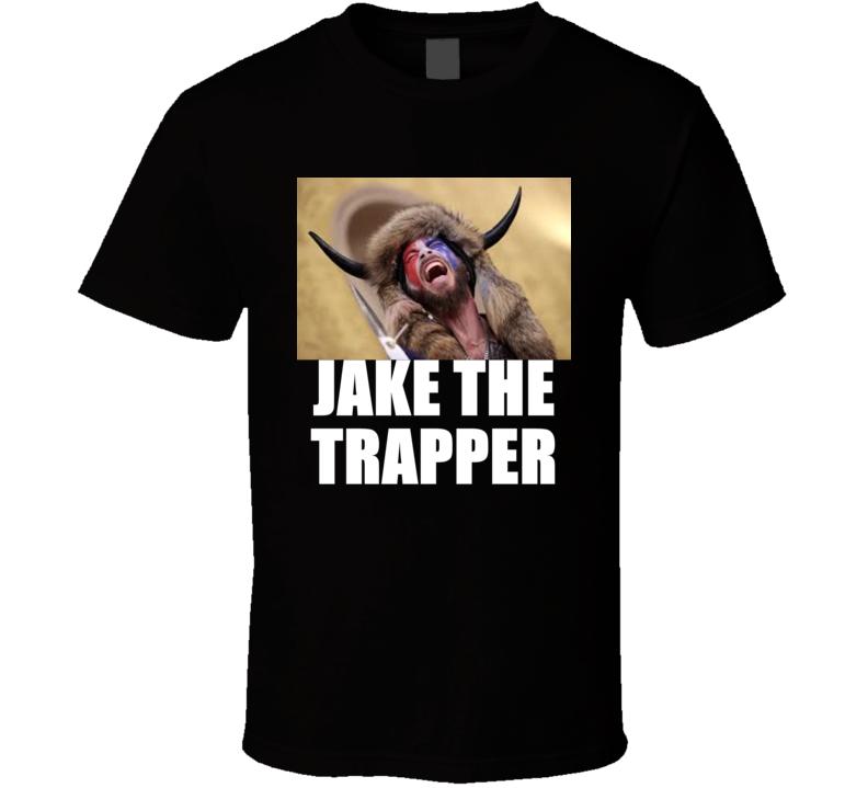 Jake Angel Trapperi Shirtless Horned Man Trump Maga Supporter T Shirt