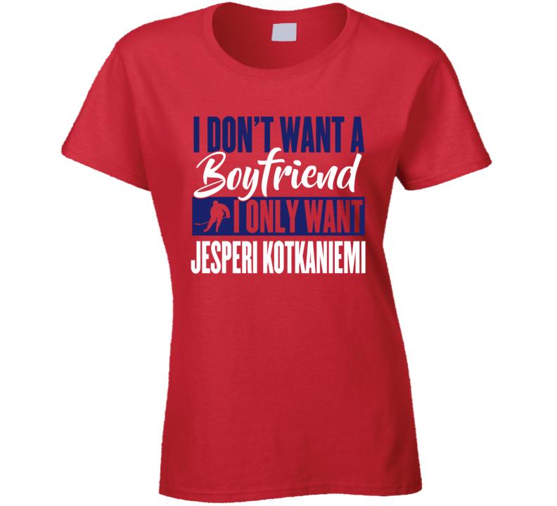 Jesperi Kotkaniemi Montreal Boyfriend Ladies Hockey Fan Ladies T Shirt