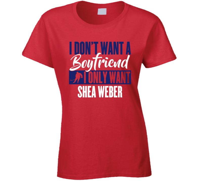 Shea Weber Montreal Boyfriend Ladies Hockey Fan Ladies T Shirt