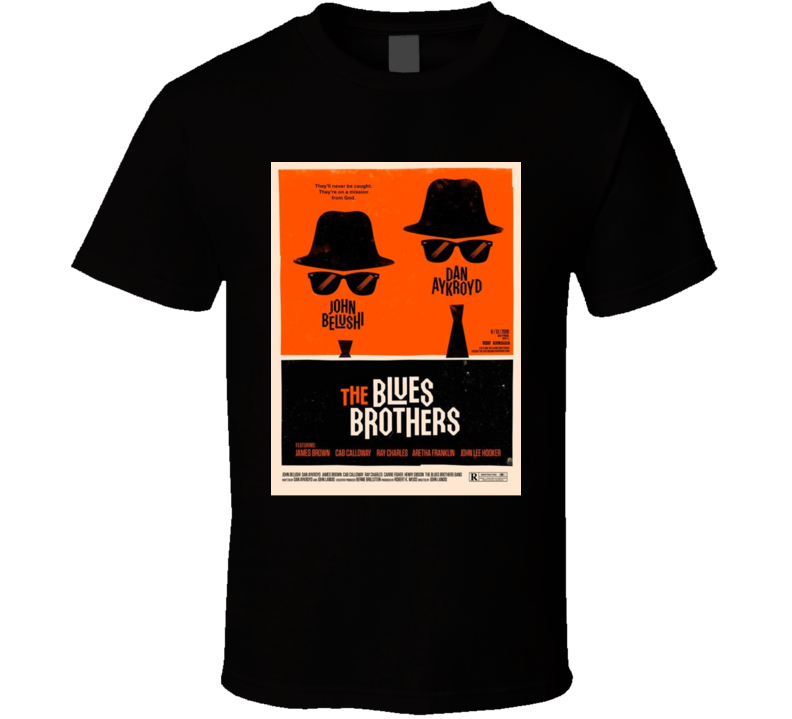 Retro Movie The Blues Brothers T Shirt