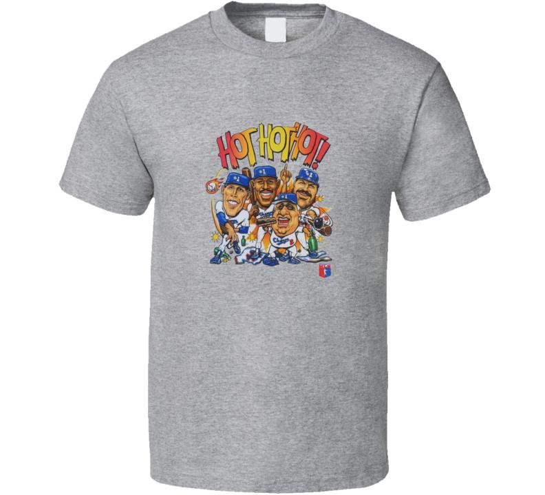 Los Angeles Hot Hot Hot Caricature Baseball Fan T Shirt