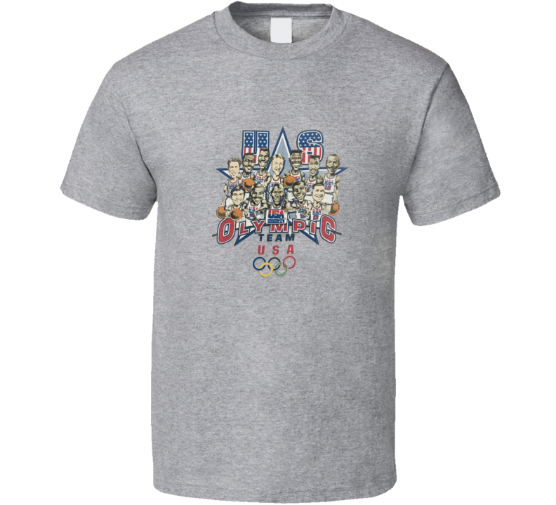 Us Olympic Basketball Dream Team Caricature T Shirt