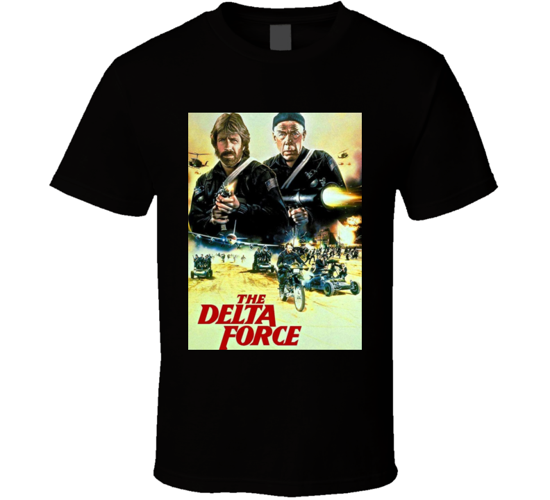 Delta Force Chuck Classic American Action Movie T Shirt