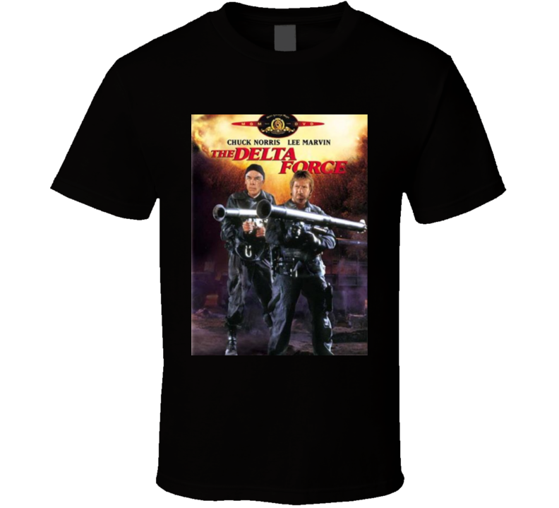 The Delta Force Chuck Norris American Classic Retro Action Movie T Shirt