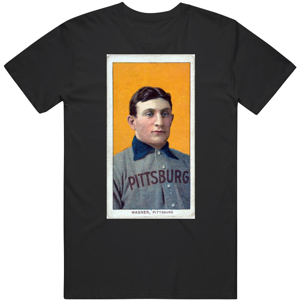Honus Wagner Pittsburgh Classic Baseball Card T Shirt
