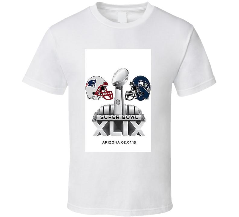 Super Bowl 49 Arizona Seattle vs New England Football T Shirt