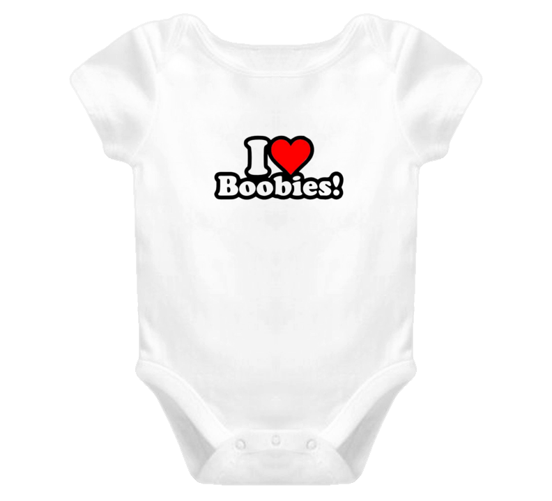Funny Baby Onesie I Love Boobies Baby 1 piece Clothing T Shirt