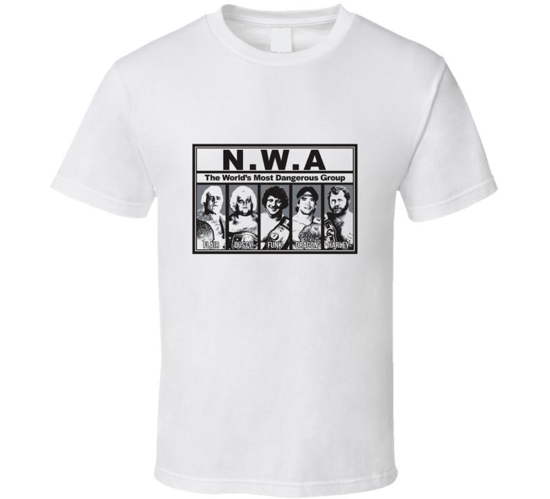 Ric Flair Most Dangerous Group 80's Vintage Wrestling T Shirt
