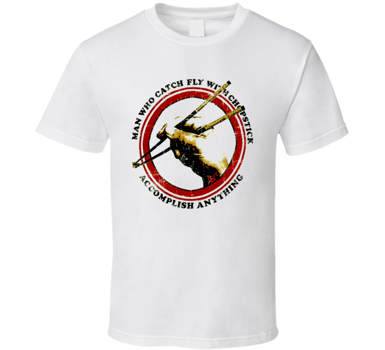 Karate Kid Chopsticks Vintage Retro T Shirt
