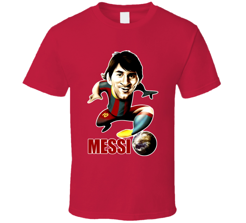 Lionel Messi Caricature Soccer T Shirt