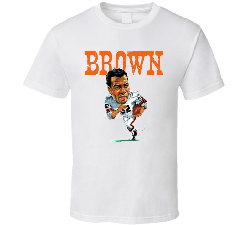 Jim Brown Caricature Cleveland Football T Shirt