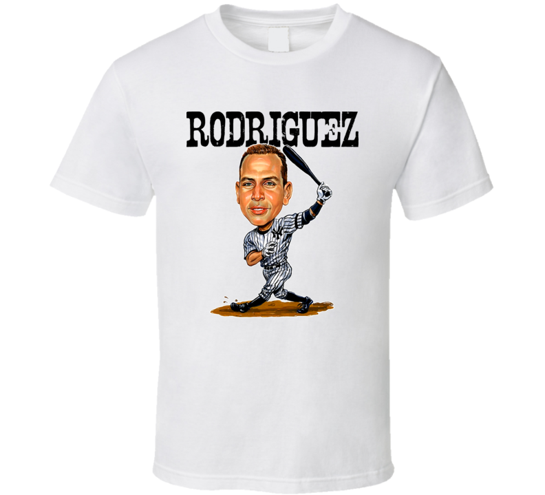Alex Rodriguez Caricature New York Baseball T Shirt