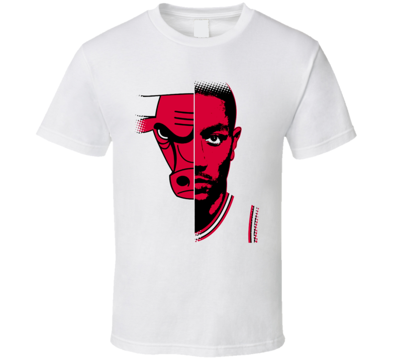 Derick Rose Chicago Basketball Gameface Bull T Shirt