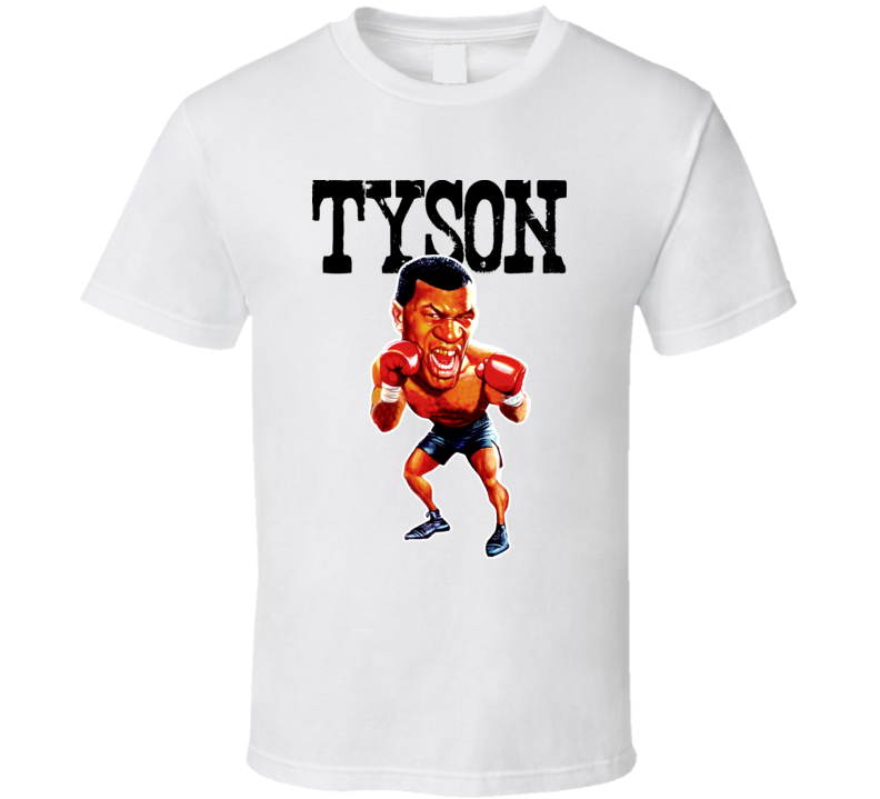 Mike Tyson Caricature Boxing Vintage T Shirt