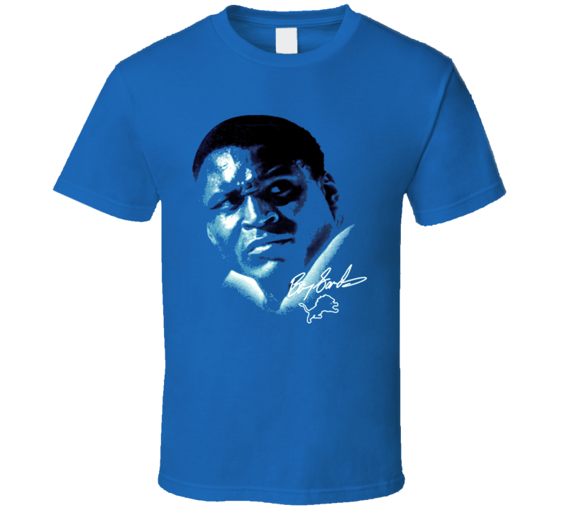 Barry Sanders Detroit Football Cool Vintage T Shirt