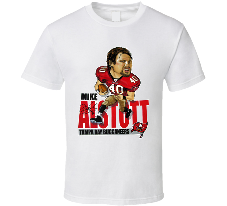 Mike Alstott Tampa Bay Caricature Football Vintage T Shirt
