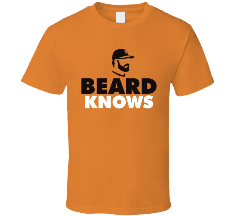 Brian Wilson Beard Knows San Fransico Baseball T Shirt