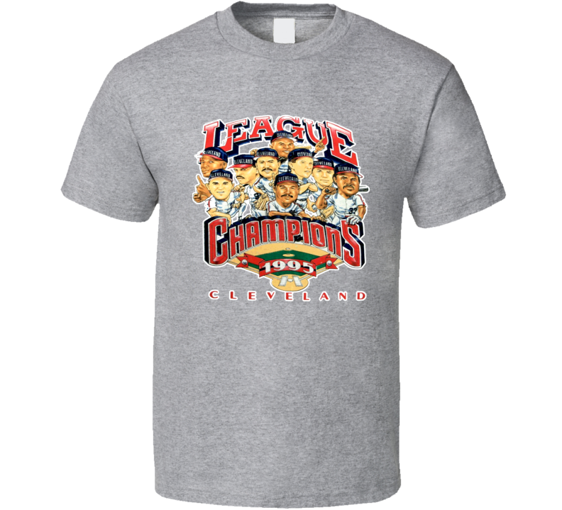 Cleveland Baseball 1995 League Champs Caricature T Shirt