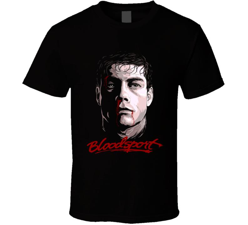 Bloodsport Frank Dux Van Damme Vintage Kickboxing Movie T Shirt