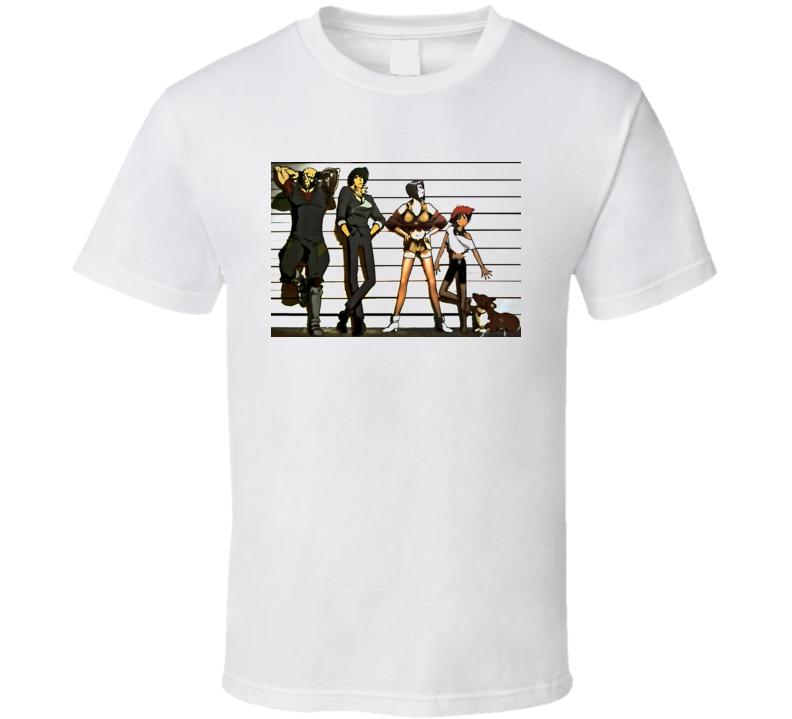 Cowboy Beebop Manga Cartoon T Shirt
