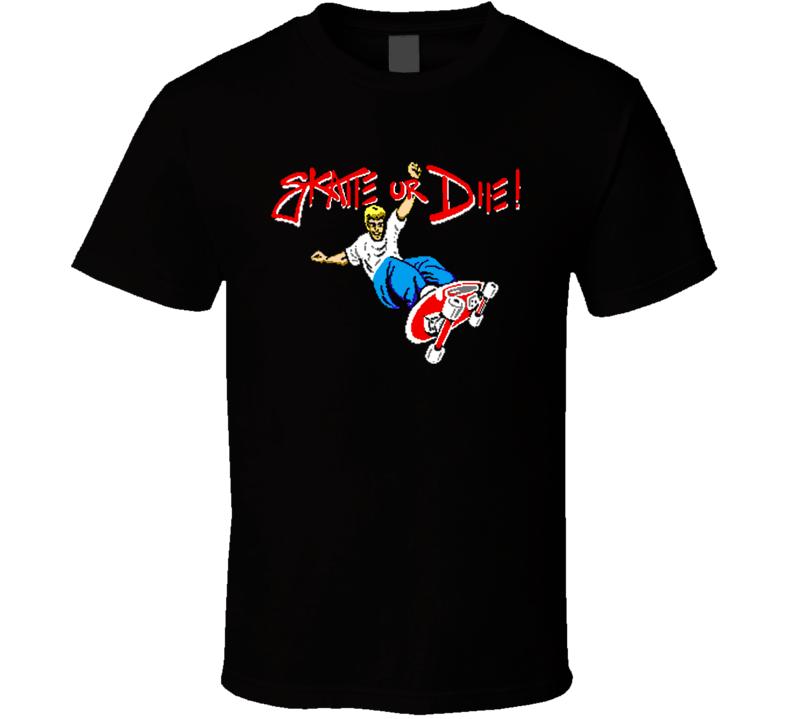 Skate Or Die Nintendo Video Game T Shirt