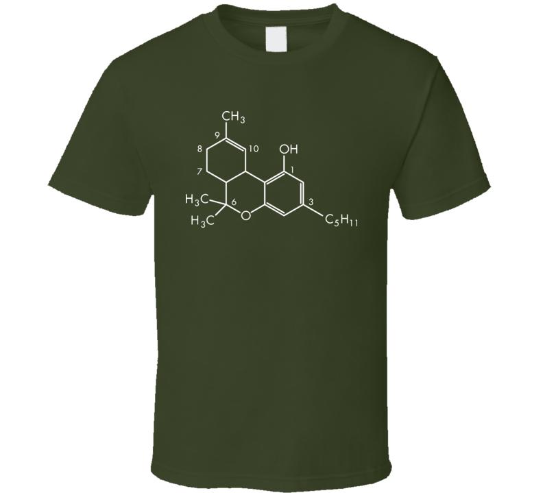 Cannabis THC weed funnyT Shirt