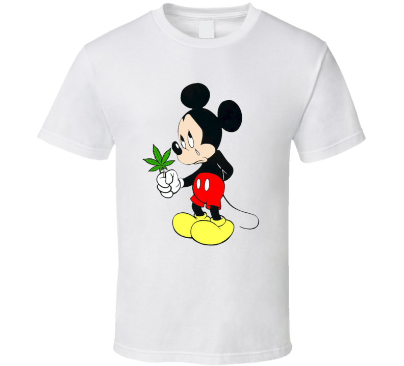 Mickey Mouse Weed Marijuana Pot Stoner Fan T Shirt