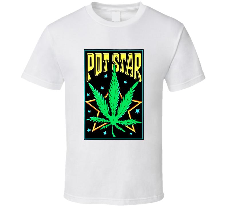 Pot Star Weed Marijuana Stoner Tarot Card T Shirt