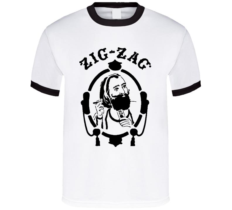 Zig Zag Man Drugs Weed Marijuana T Shirt