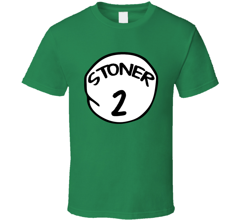 Stoner 1 Funny Weed Marijuana Cat In The Hat Couples Partners T Shirt