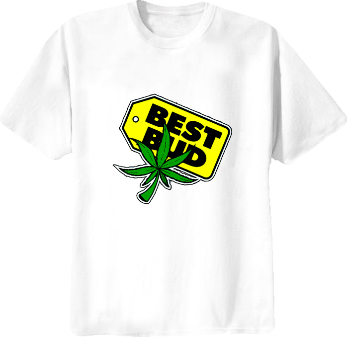 Best Bud Funny Parody Best Buy Marijuana T Shirt