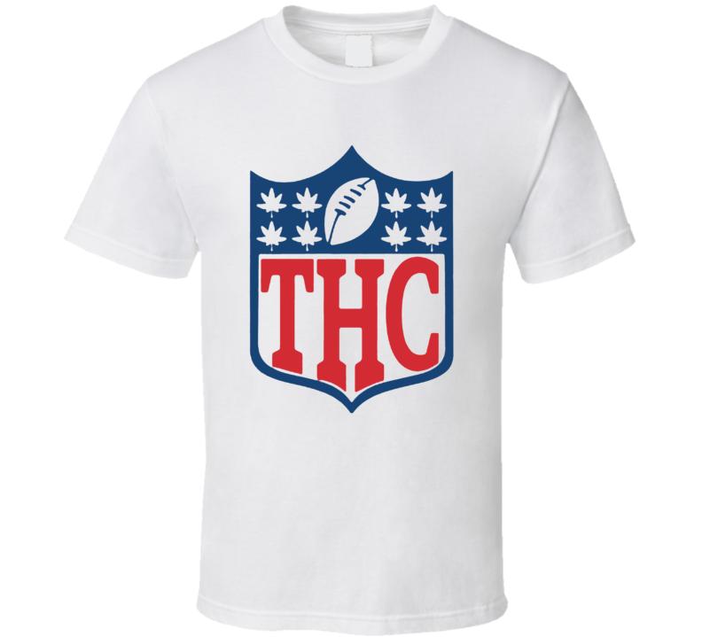 National THC Football Logo Parody Weed Stoner T Shirt
