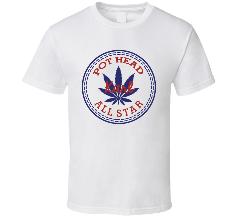 Pot Head Karl All Star Shoe Parody Weed Stoner T Shirt