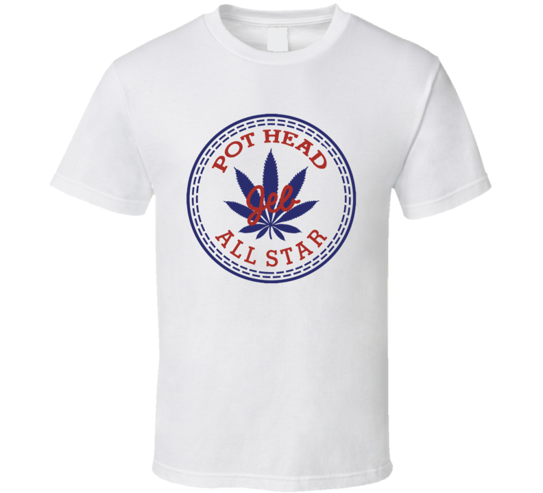 Pot Head Jeb All Star Shoe Parody Weed Stoner T Shirt