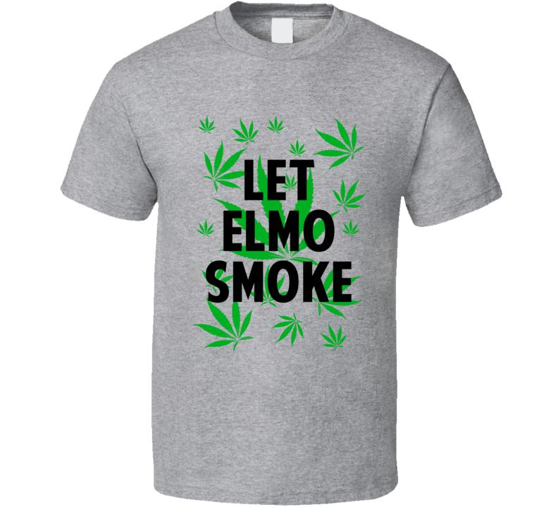 Let Elmo Smoke Legalize Weed Marijuana Personalized Athlete T Shirt