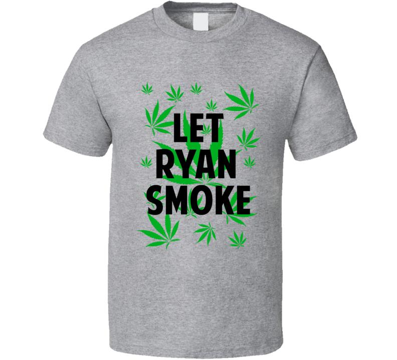 Let Ryan Smoke Legalize Weed Marijuana Personalized Athlete T Shirt