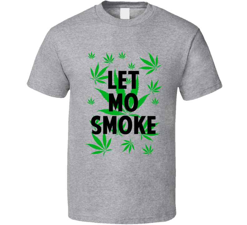 Let Mo Smoke Legalize Weed Marijuana Personalized Athlete T Shirt