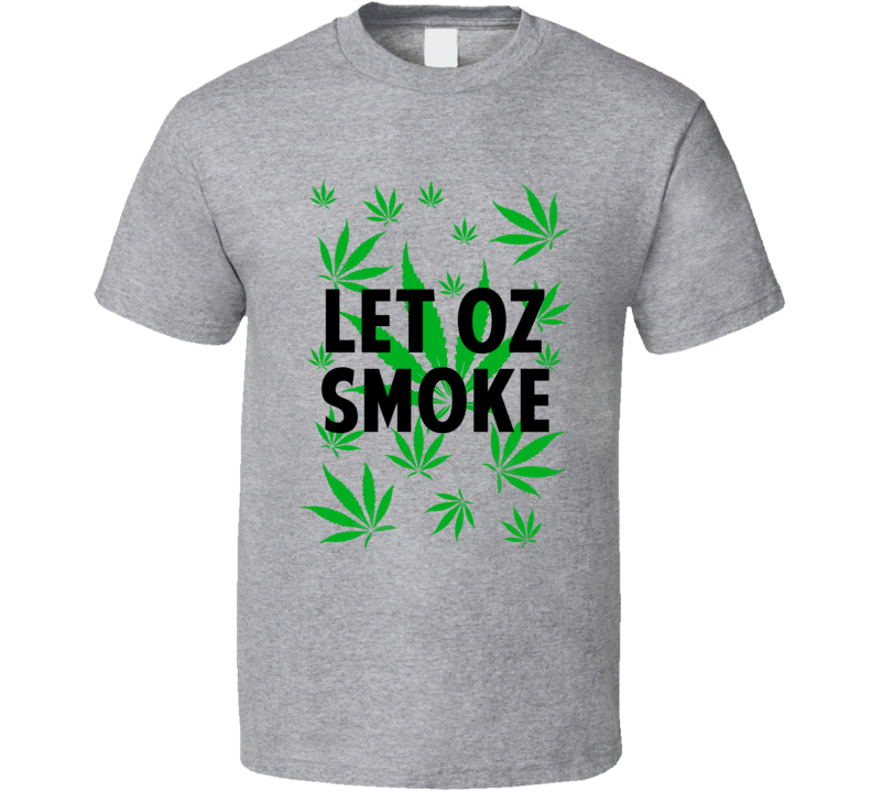 Let Oz Smoke Legalize Weed Marijuana Personalized Athlete T Shirt