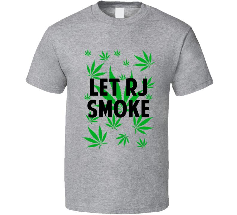 Let Rj Smoke Legalize Weed Marijuana Personalized Athlete T Shirt