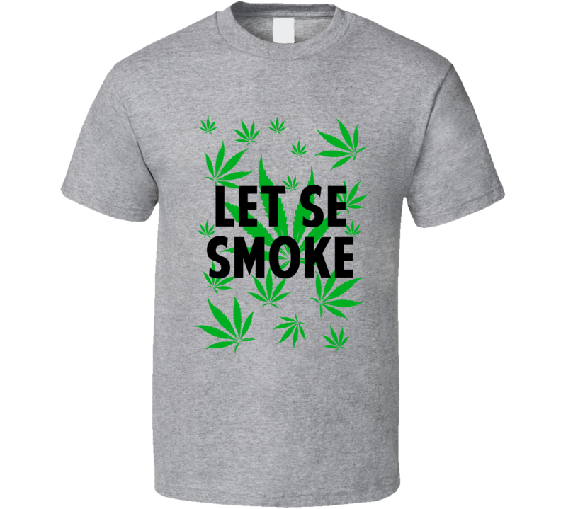 Let Se Smoke Legalize Weed Marijuana Personalized Athlete T Shirt