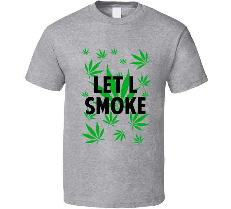Let L Smoke Legalize Weed Marijuana Personalized Athlete T Shirt