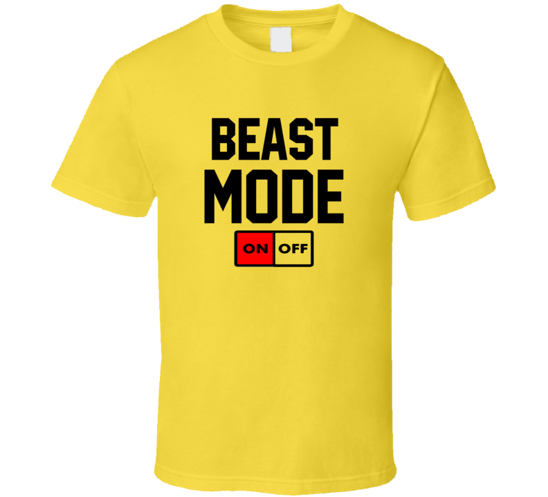 Beast Mode On / Off Fitness Exercise Workout T Shirt
