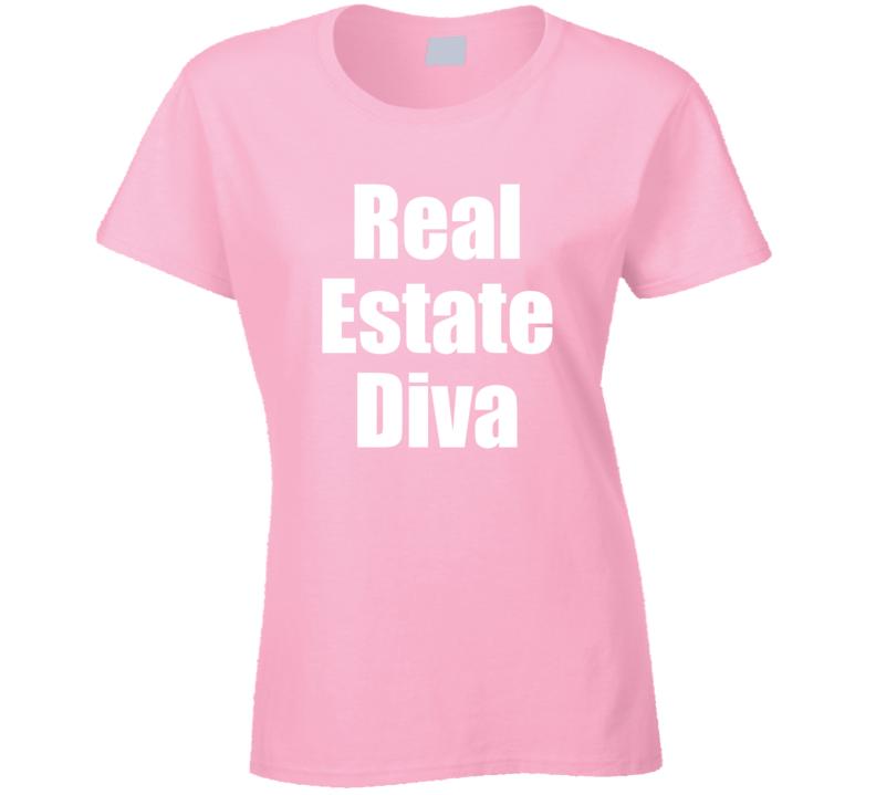 Real Estate Diva Investor Selling Ladies T-shirt