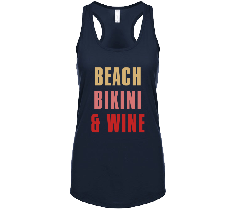 Beach Bikini & Wine Summer T-shirt