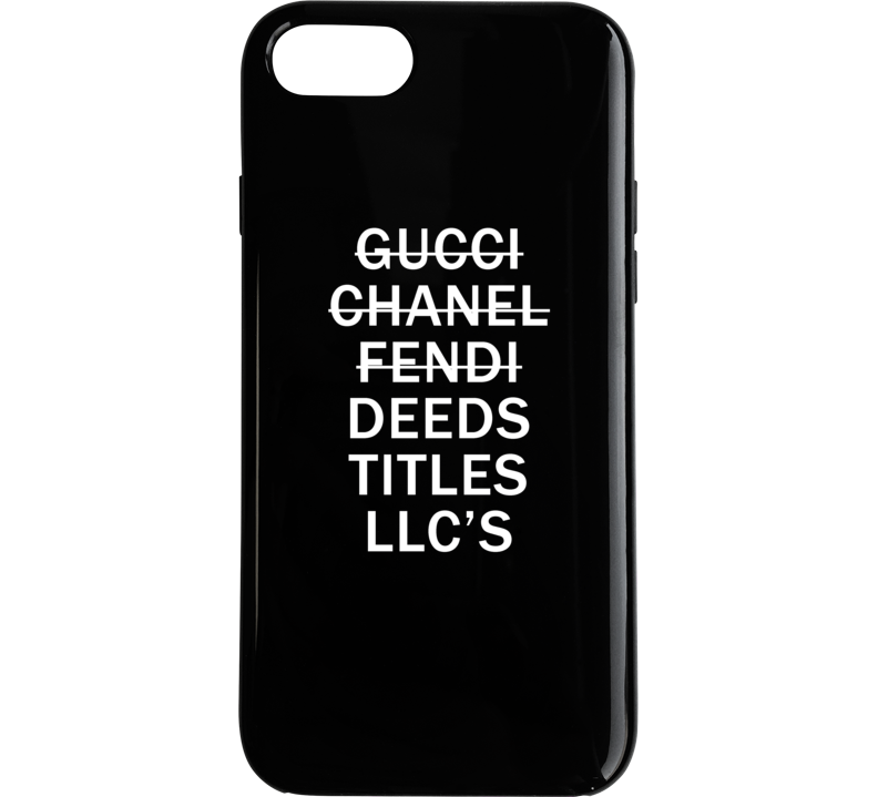 Gucci Chanel Fendi Deeds Titles Llc's Real Estate Investor Shopping Phone Case